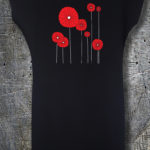 poppies duga haljina